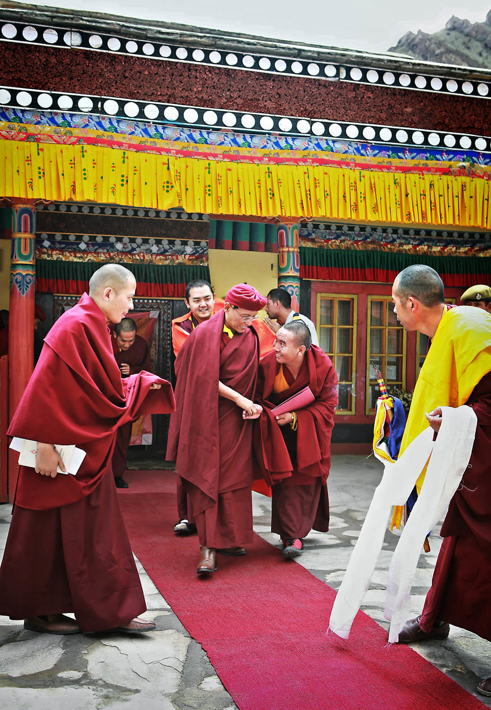Greeting H.H, Hemis Monastery, Ladakh, India