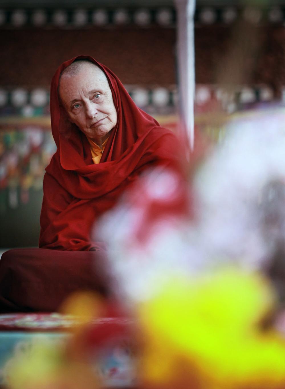 Jetsunma Tenzin Palmo teaching, Hemis Monastery
