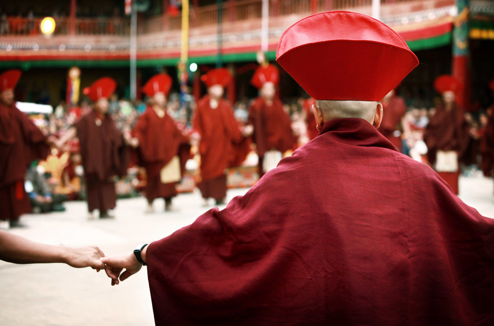 Monks dancing, Hemis Monastery