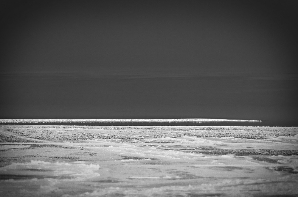 Frozen Baltic Sea, Heringsdorf, Usedom, Germany