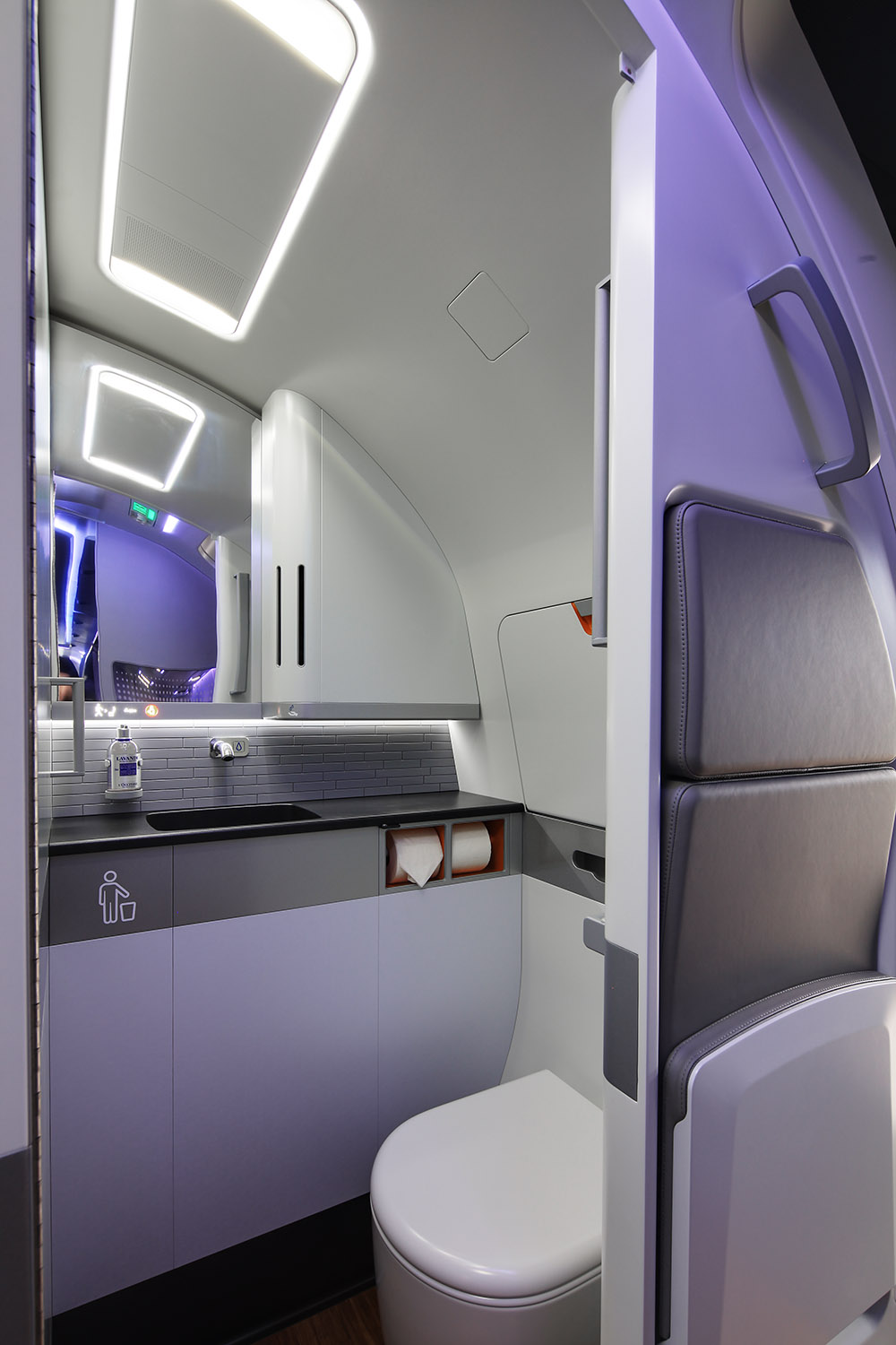 Inside E2 mock-up, Farnborough Airshow, UK