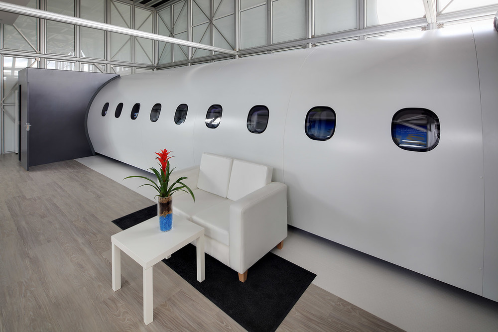 Embraer E2 mock-up at the Farnborough Airshow, UK