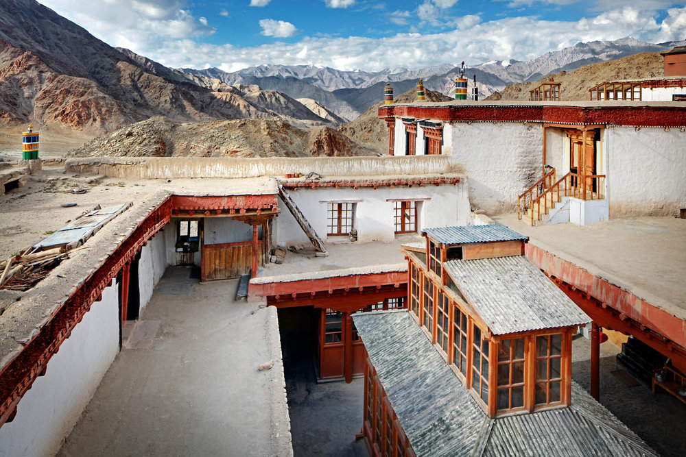 On the roof, Chemdrey Monastery, Ladakh, India