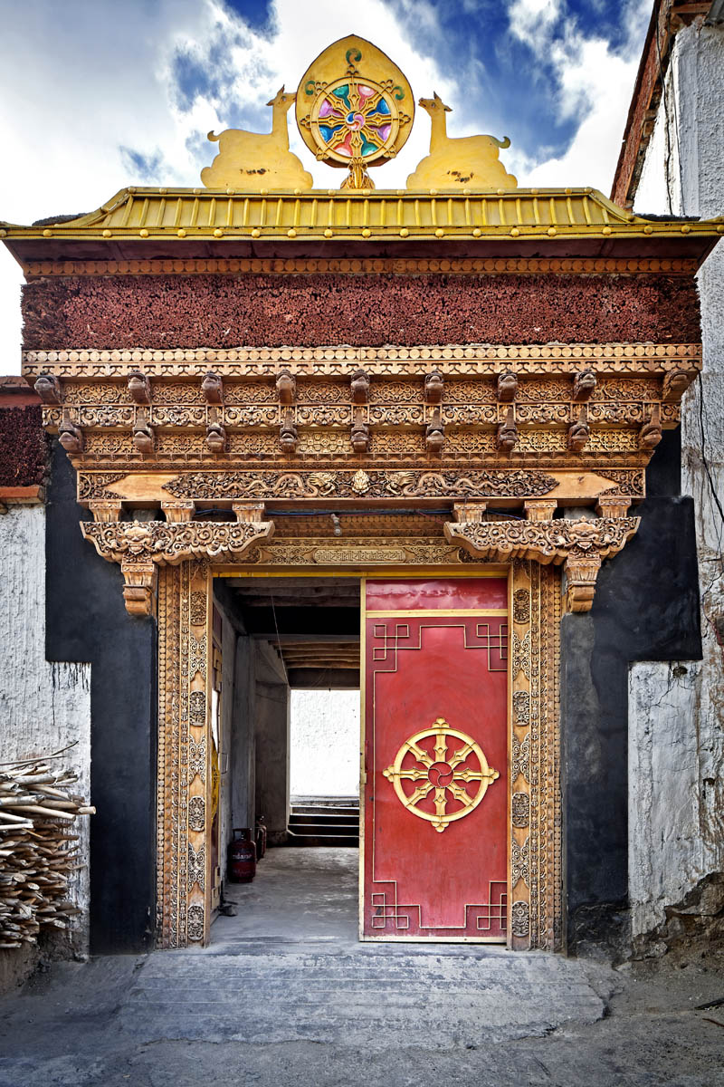 Entrance to Chemdrey Monastery, Ladakh, India