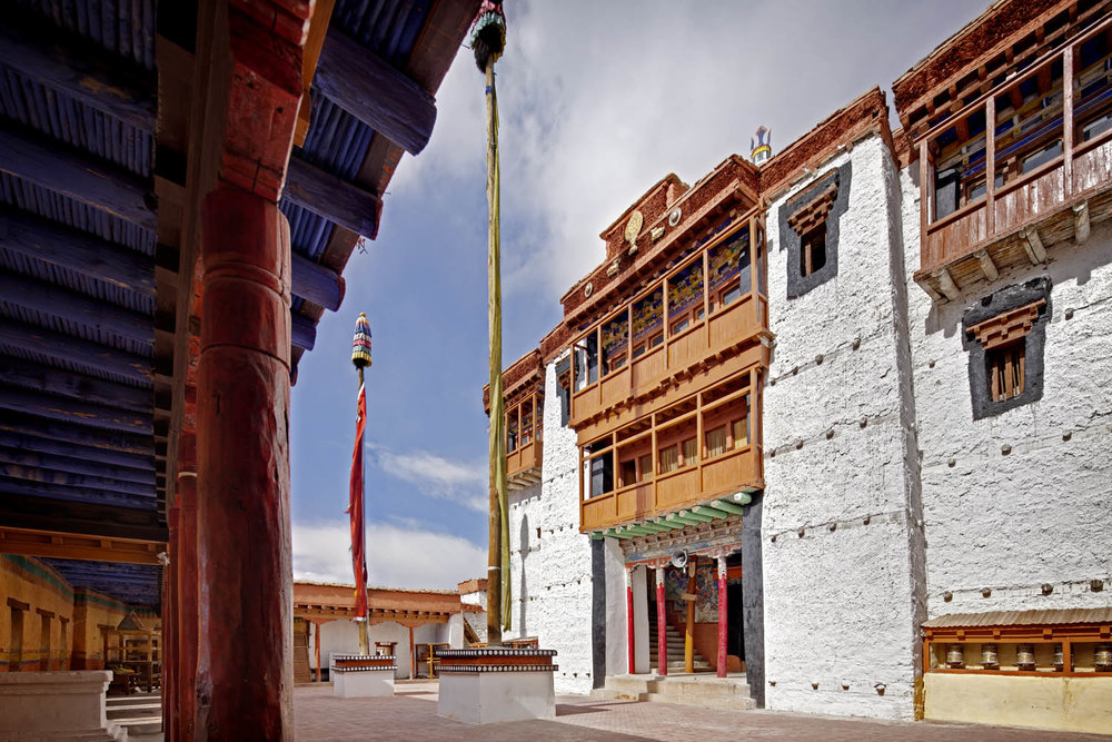 Courtyard & Temple, Chemdrey Monastery, Ladakh, India
