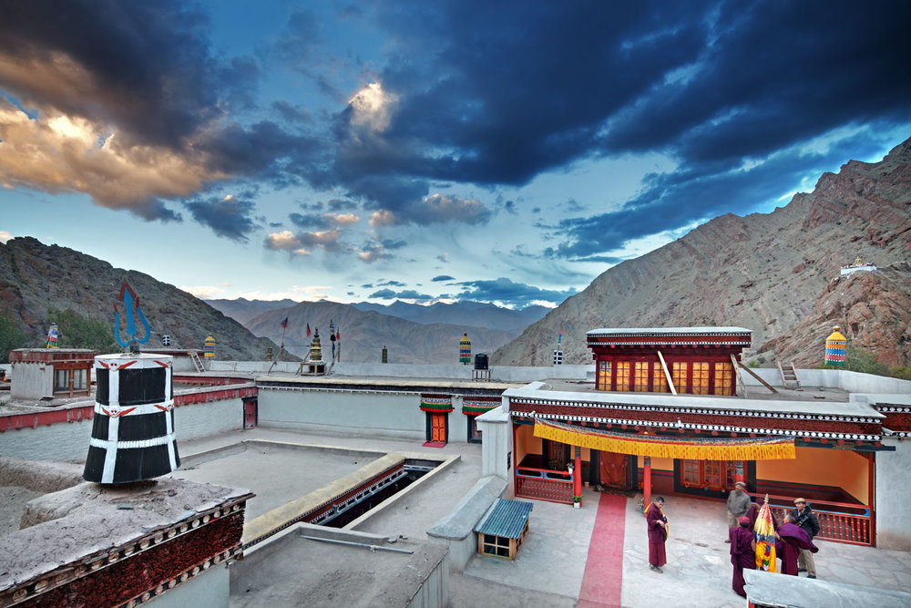 On the roof, Hemis Monastery, Ladakh, India