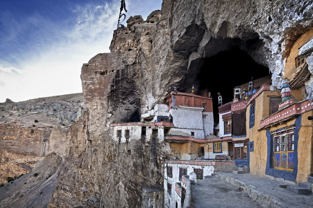 Temple, Phuktal Monastery, Zanskar, Ladakh, India
