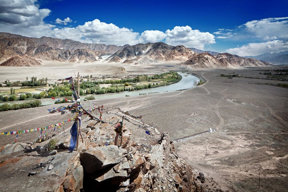View over the Indus Valley, Stakna Monastery, Ladakh, India