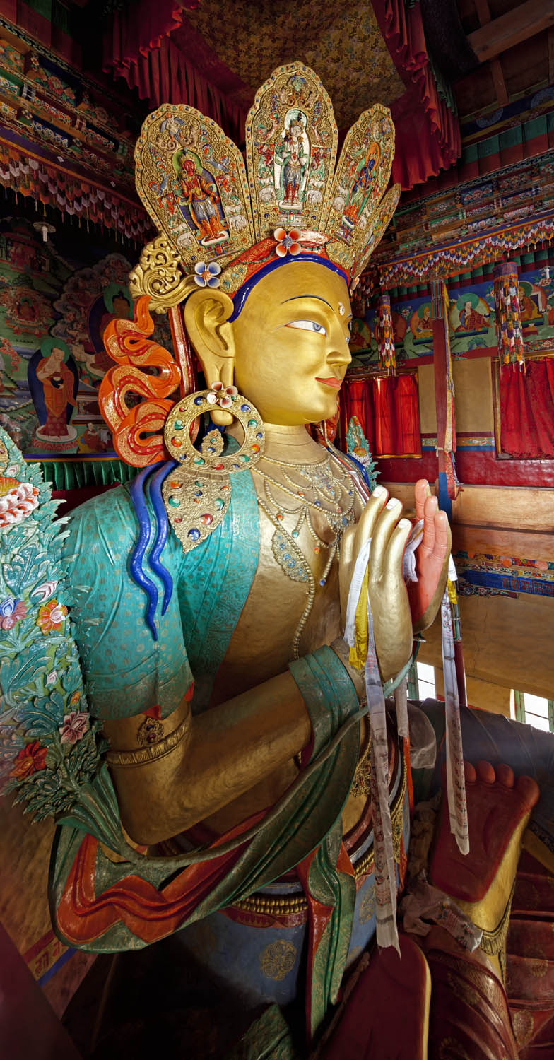 Big Buddha, Thicksey Monastery, Ladakh, India