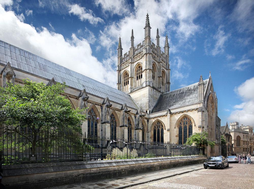 Merton College Chapel from Merton St. Oxford, UK
