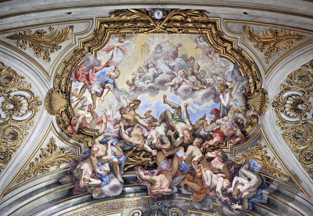 """Fall of Lucifer and His Angels"" - Santi Dodici Apostoli, Rome"