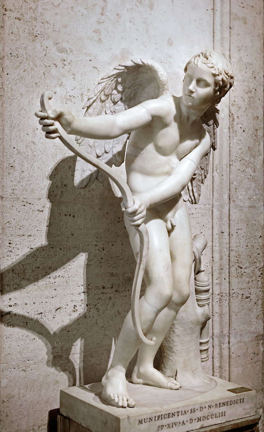 Eros stringing his bow, Musei Capitolini, Rome