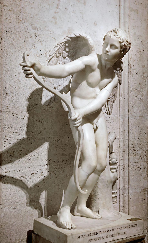 Eros stringing his bow, Musei Capitolini, Rome