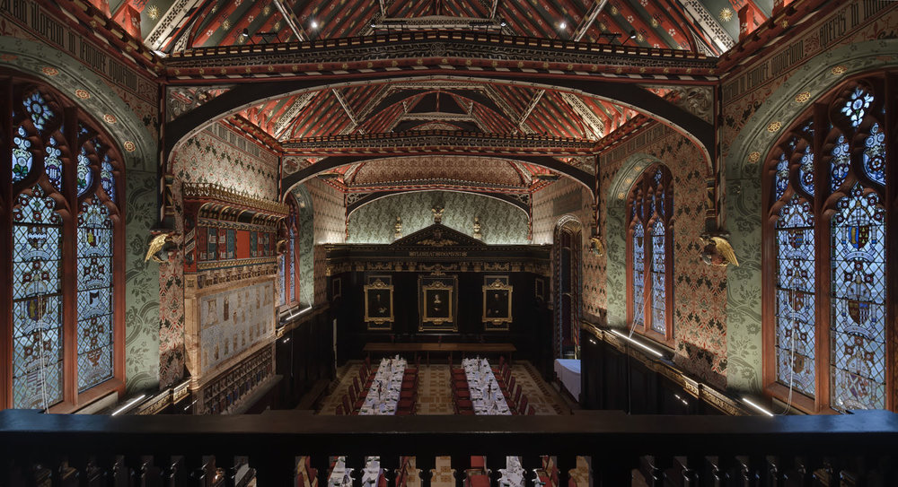 Lighting upgrade - The Old Hall, Queen's College, Cambridge