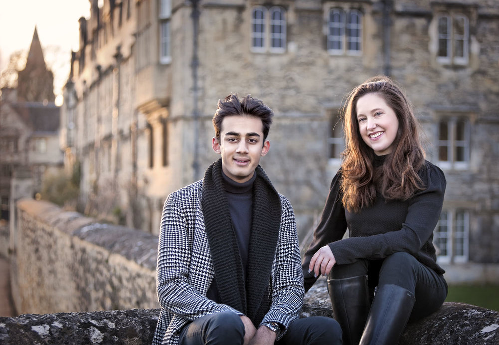 Lily and Jules - Heads of the Common Rooms - Merton College, Oxford