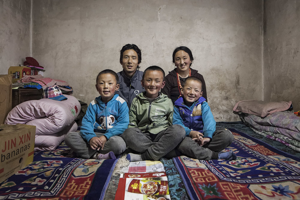 Norlha employee family portraits - for Norlha Textiles in Amdo on the Tibetan Plateau