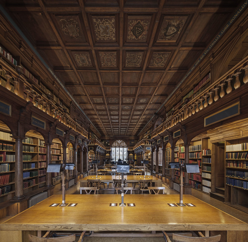 Duke Humfrey's Library, Bodleian Library, University of Oxford, Oxford, UK
