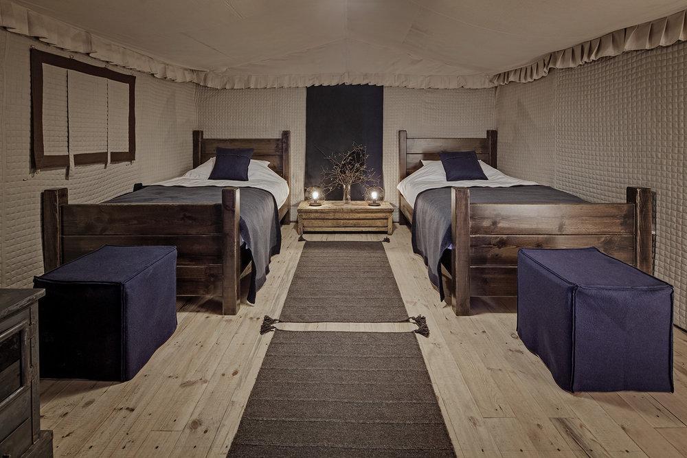Tent interior, Norden Camp, Amdo, Tibet