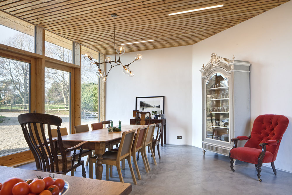 The new eco-extension and barn conversion at Manor Farm, Boars Hill, Oxford, by  Transition by Design .