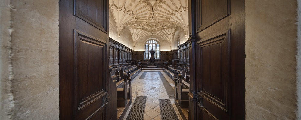 Convocation Hall, Bodleian Libraries, University of Oxford, Oxford, UK
