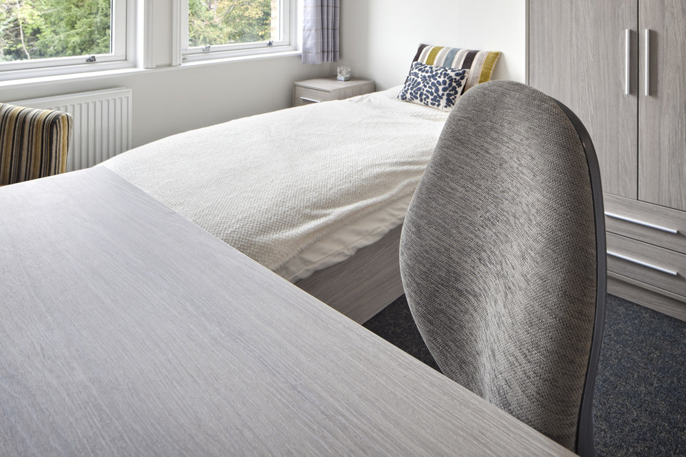 Pineapple Contracts furniture at St. Hilda's College's Stockmore Road Halls of Residence, Oxford University, Oxford, UK