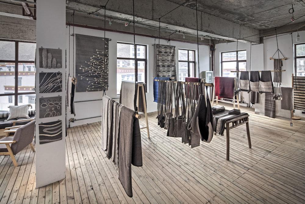 Norlha carpet atelier showroom, Labrang, Amdo, Tibet