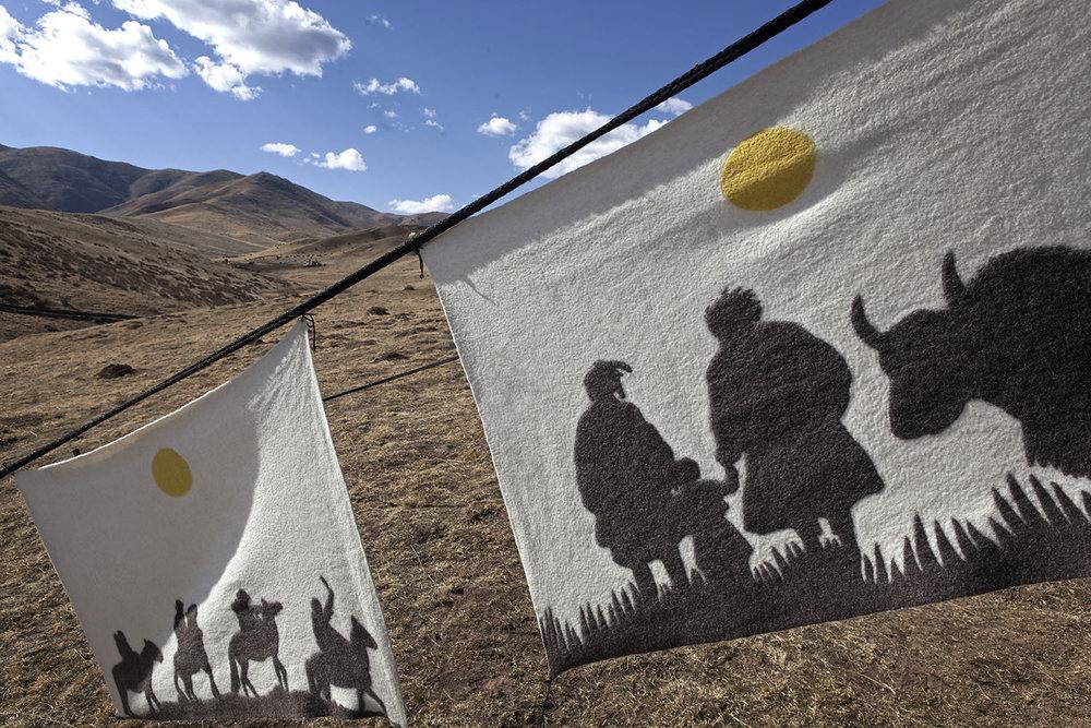 Felt wall hangings, Norlha Textiles, Amdo, Tibet/China