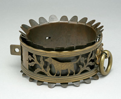 This Victorian brass collar dates back to 1844.