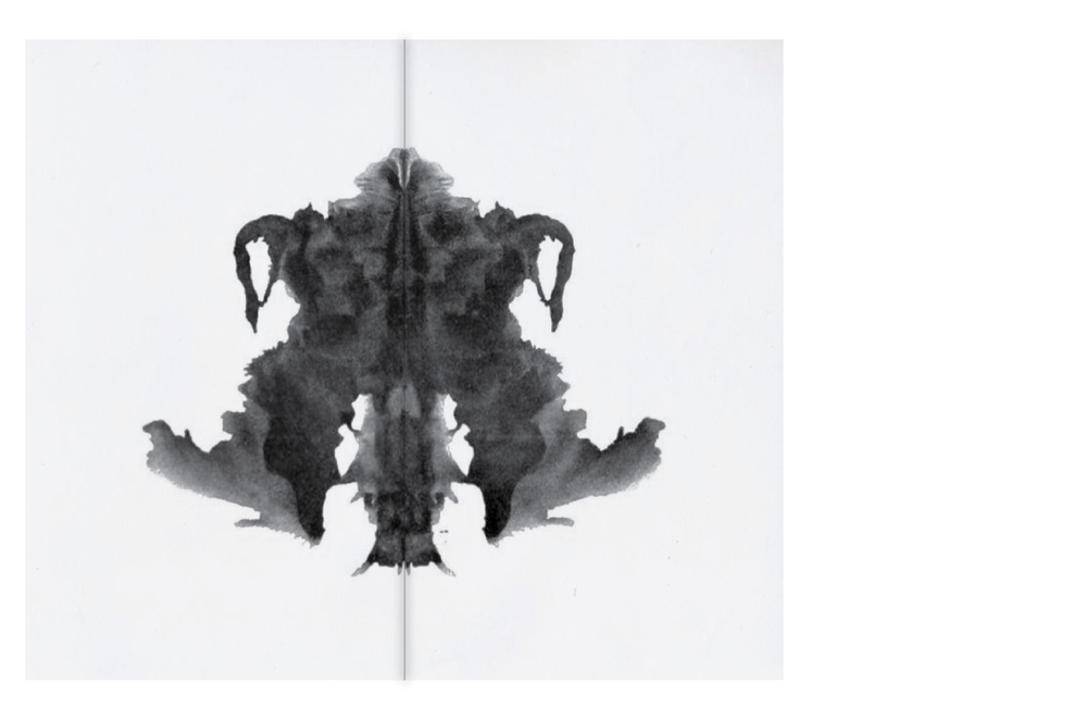 "Within each menu is a different Rorschach slide. In brief, the waiter would ask each guest, ""What do you see?"" Each guest would then receive a meal based on their specific response."
