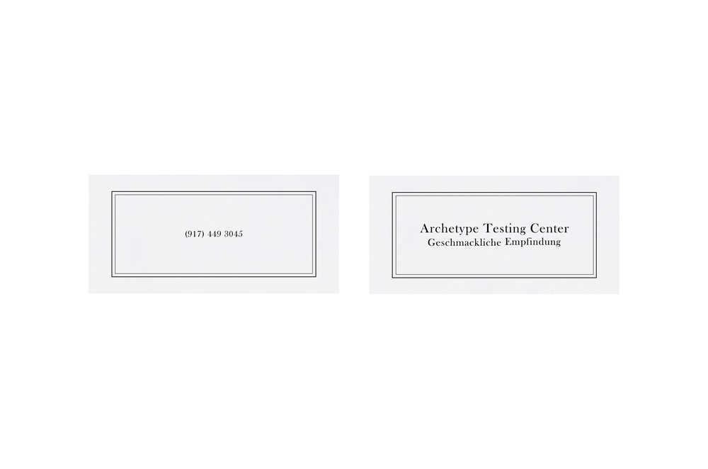 The business cards use the outward-facing brand identity, drawing inspiration from early 20th-century clinical journals.