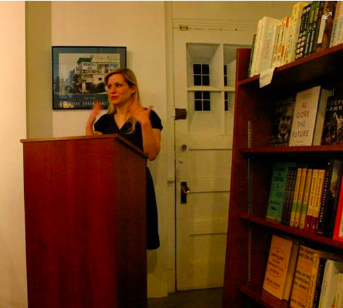 At the book launch for Best New Poets 2013, December 2013.