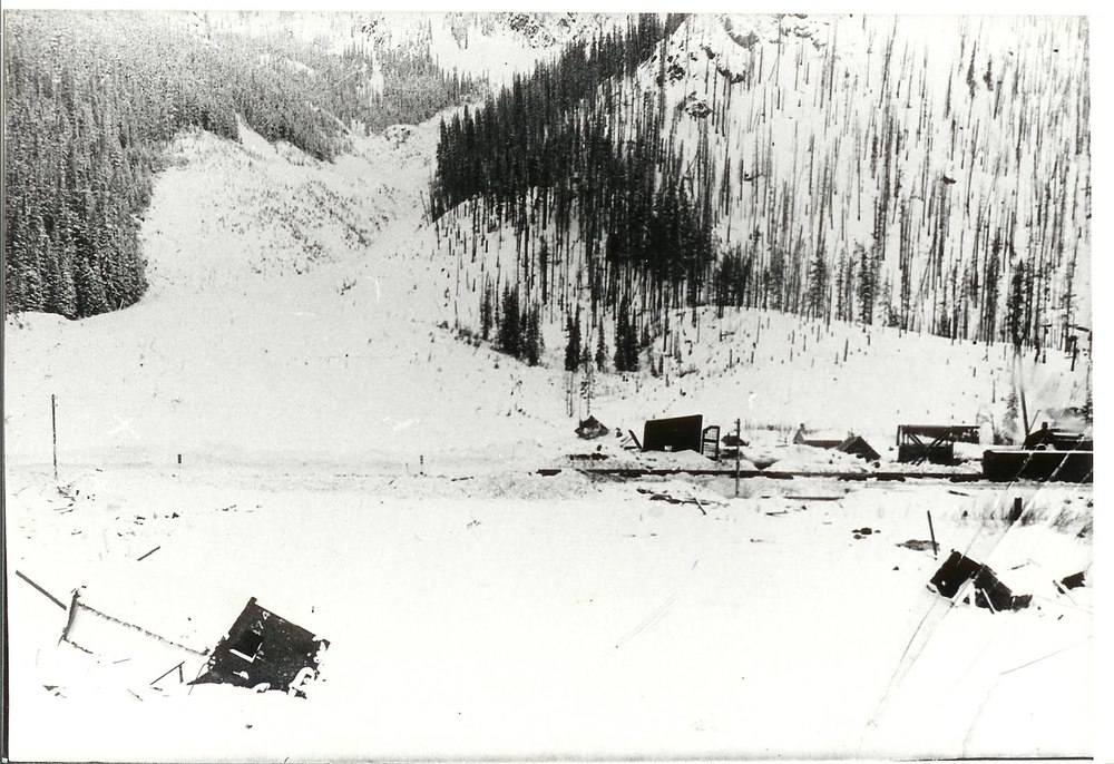 Rogers Pass after 1899 Snowslide