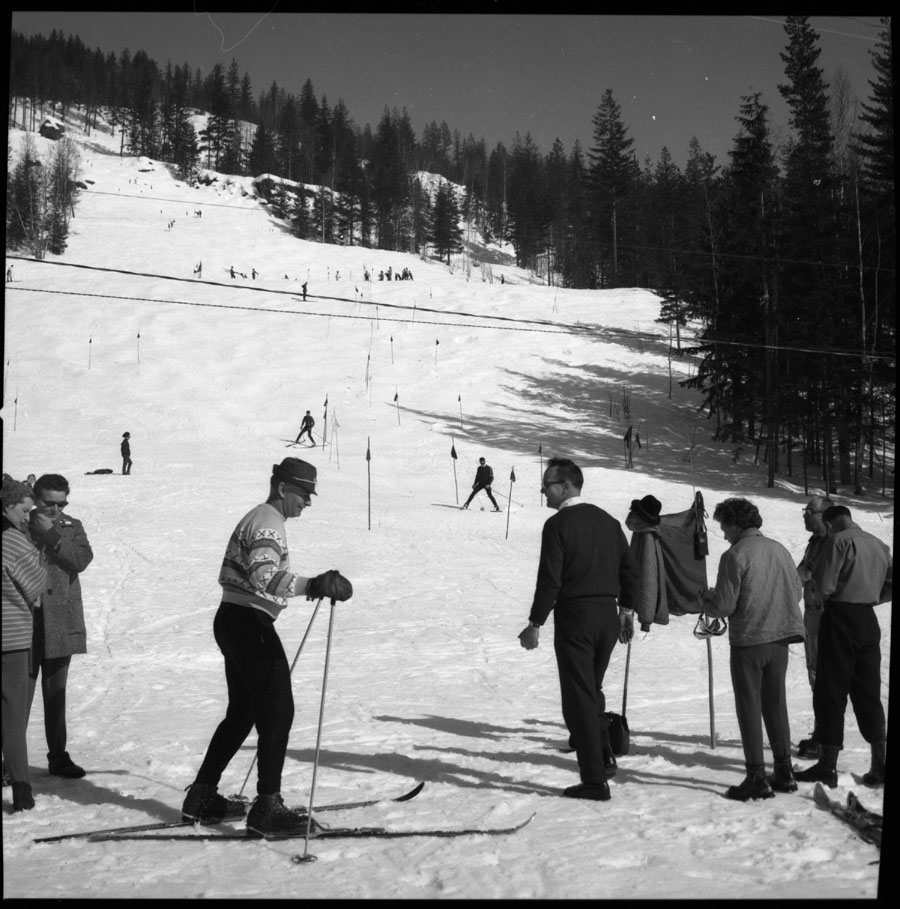 Skiing on Mt. Revelstoke 1965 [DN-73]