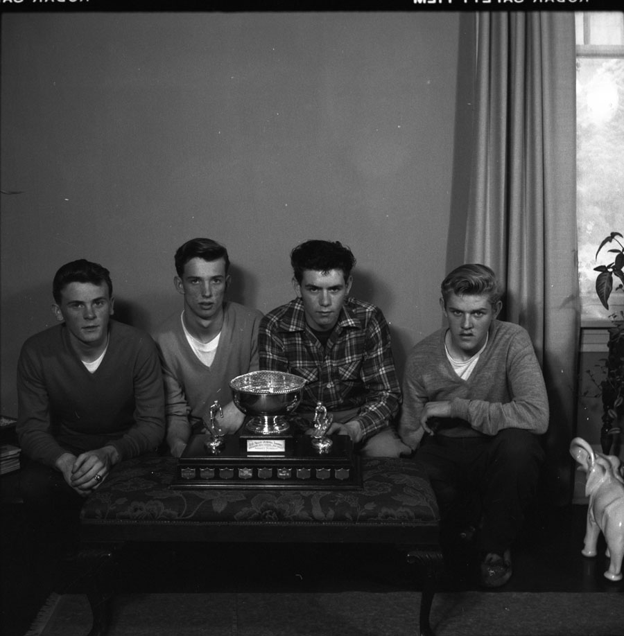 Skiers with Trophy 1956 [DN-240]