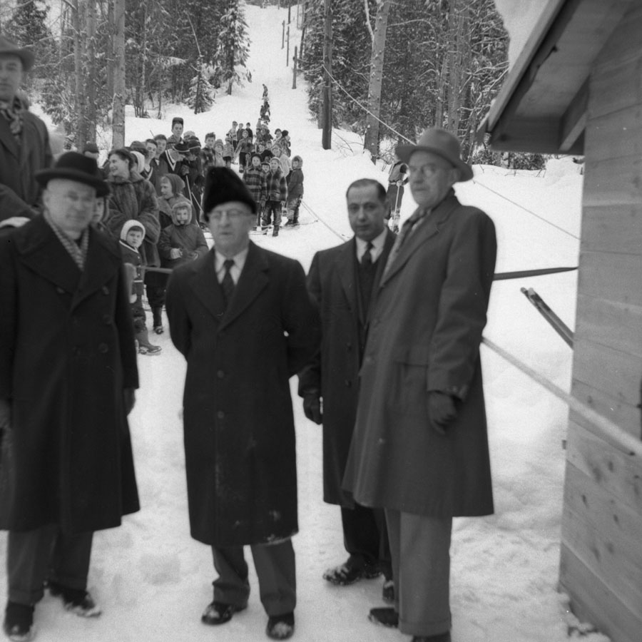 Official Opening Ski Tow, 1956 [DN-914]