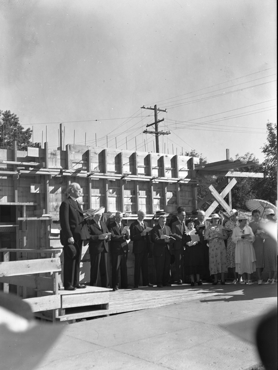 Cornerstone Ceremony for United Church [DN-384]