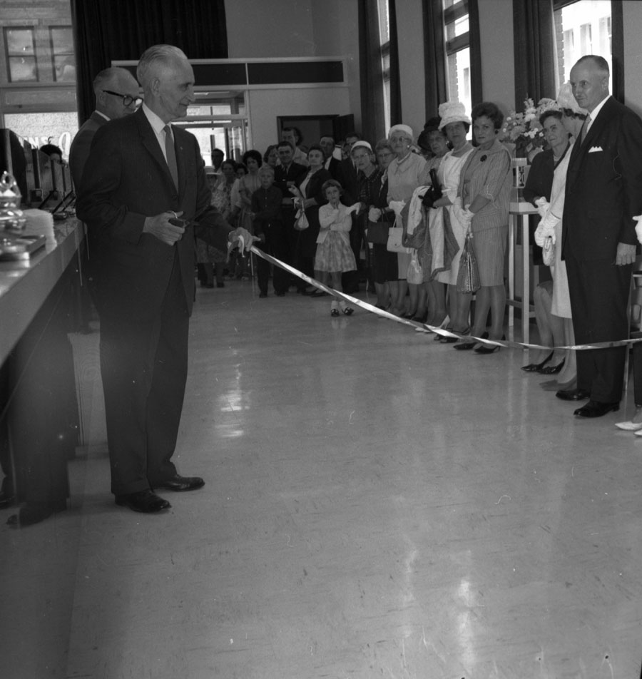Cutting Ribbon at New CIBC Building [DN-388]