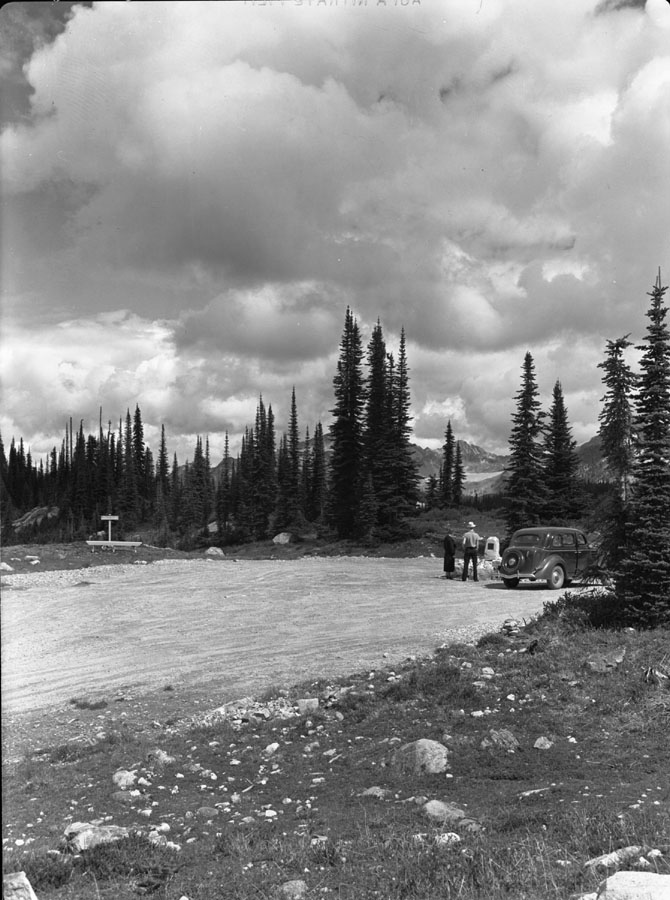 Monument at Mt. Revelstoke Auto Road [DN-94]