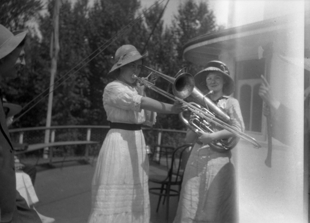 Blanche McCarty Playing Trombone [DN-984]