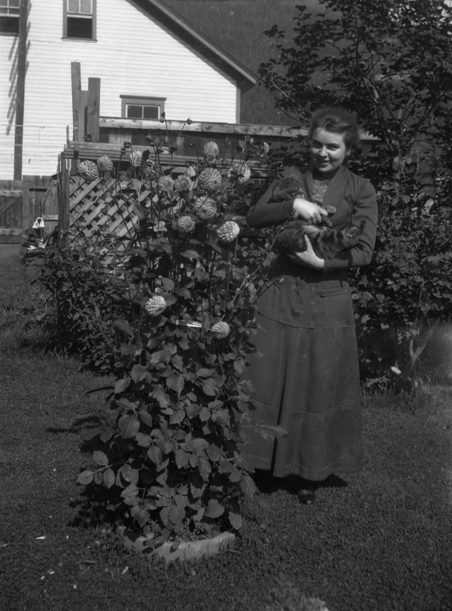 Woman in Garden, c1910 [DN-986]