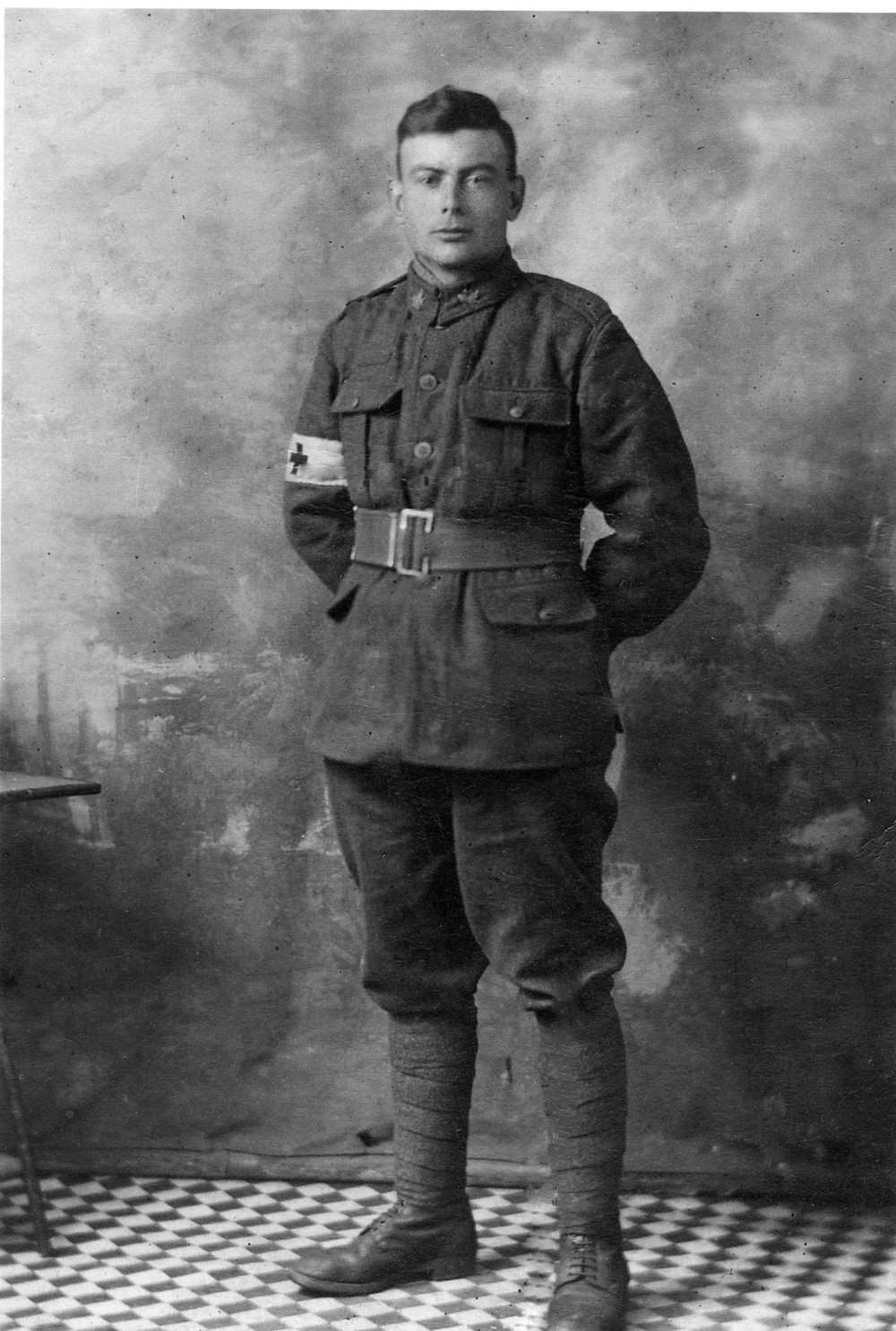 Louis Daem in uniform, 1916.