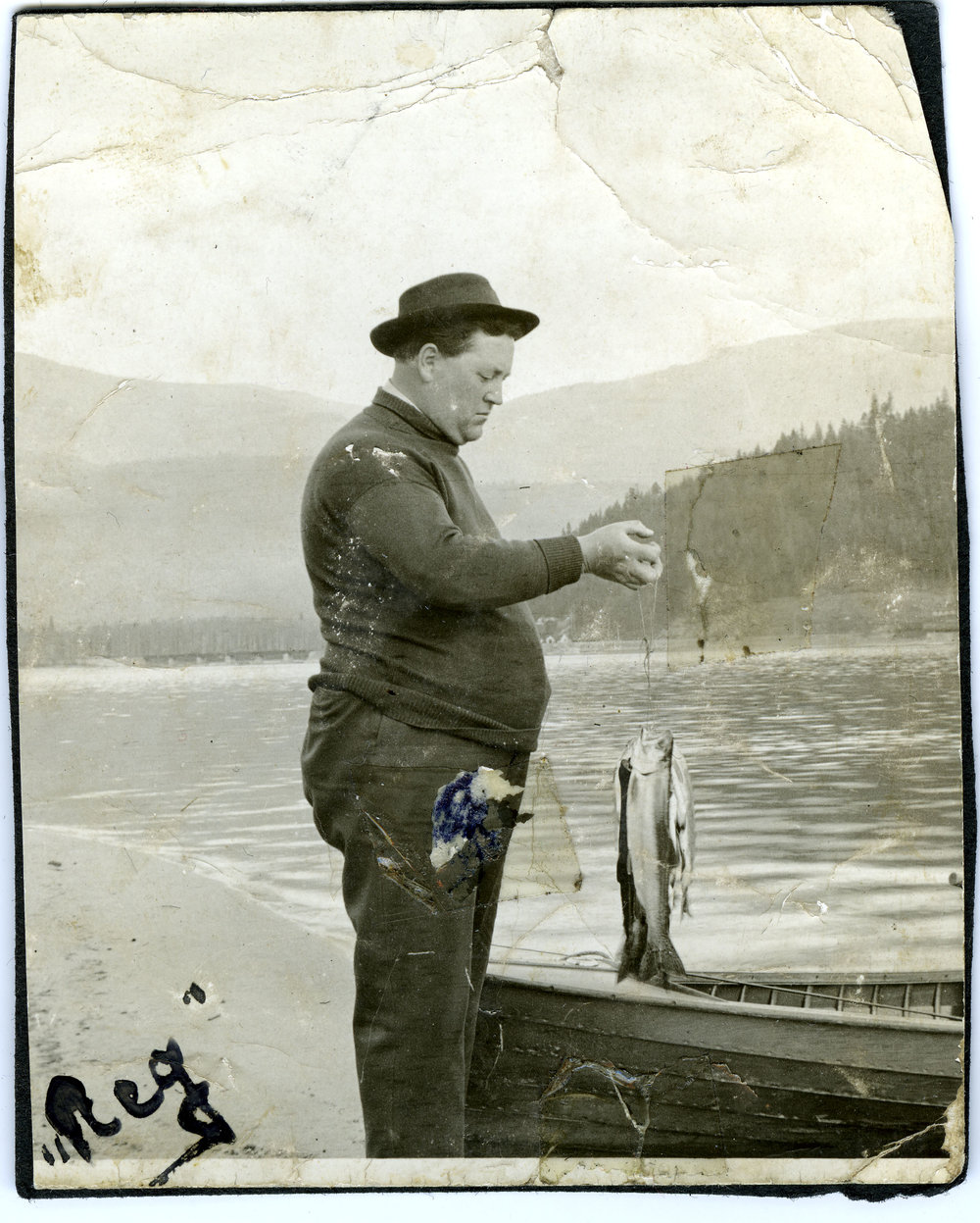 Reginald Upper fishing, date unknown