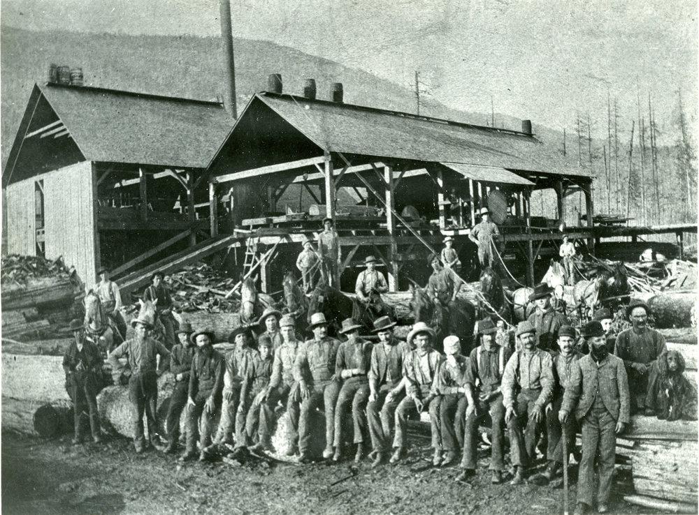 Robinson lumber mill, Revelstoke.