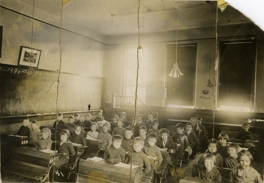 Grade 1 class, Central School, date unknown.