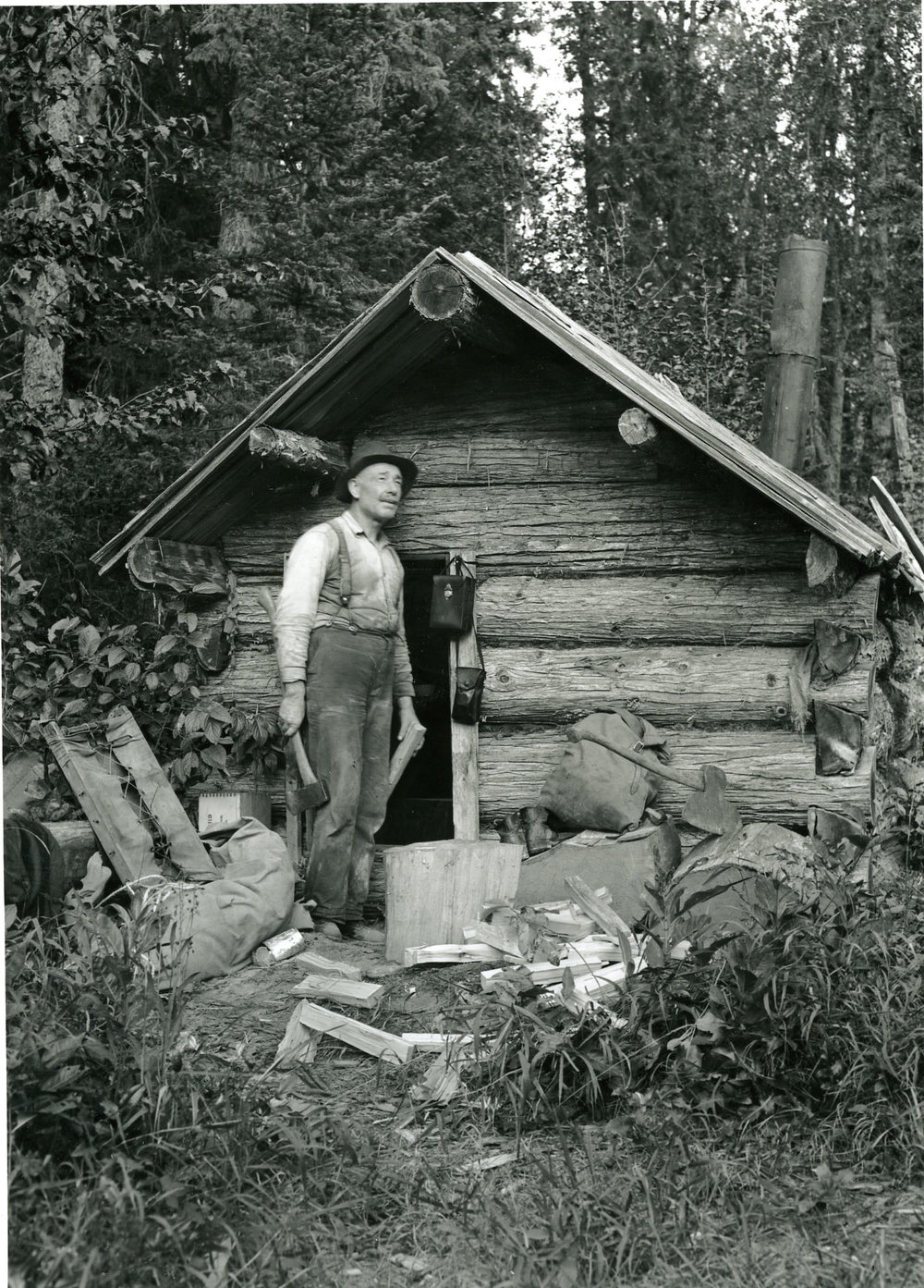 Andy Kitson at Birch Creek Lodge, September 1938.