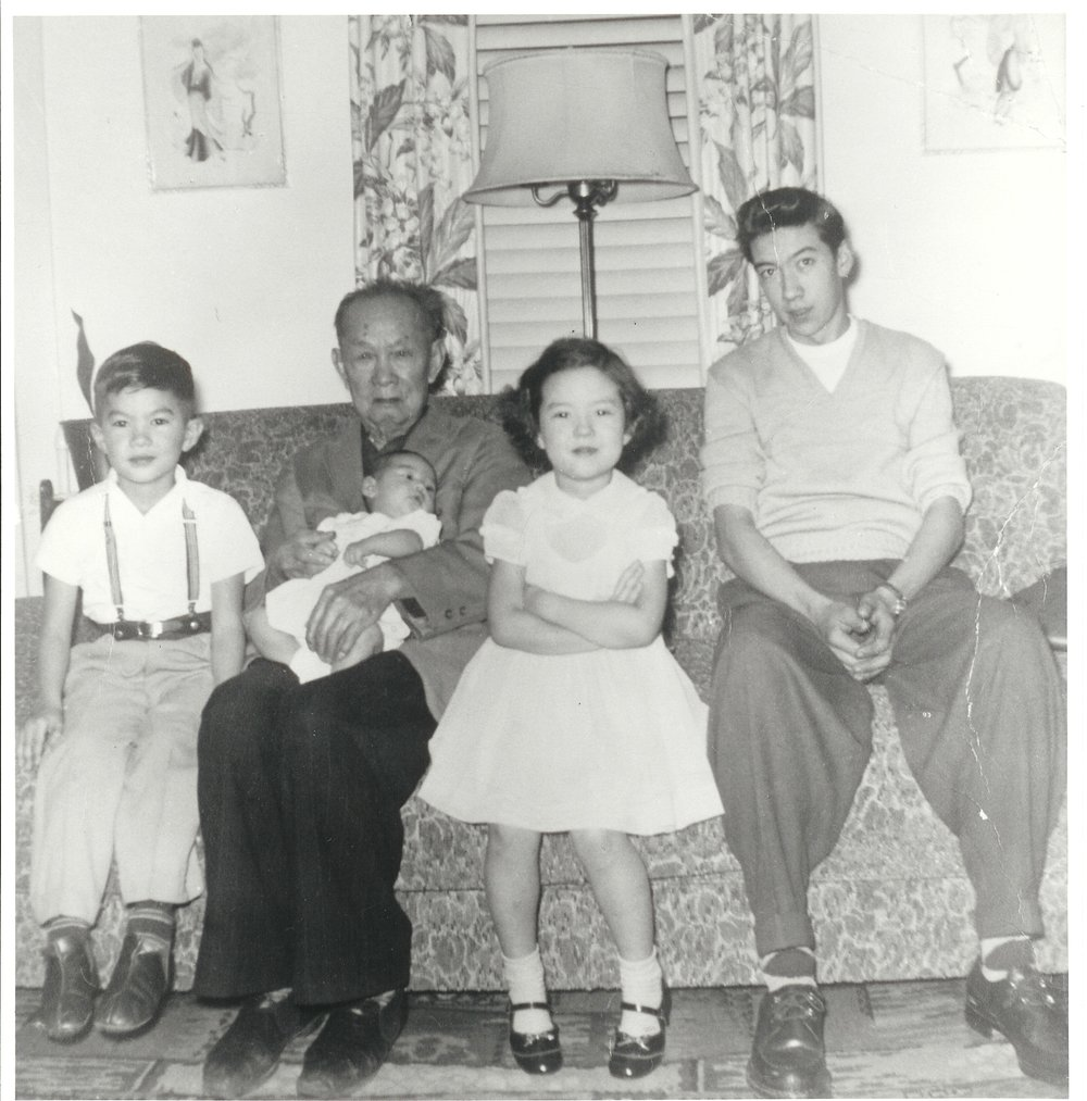 Wing Chung and grandchildren, 1955.