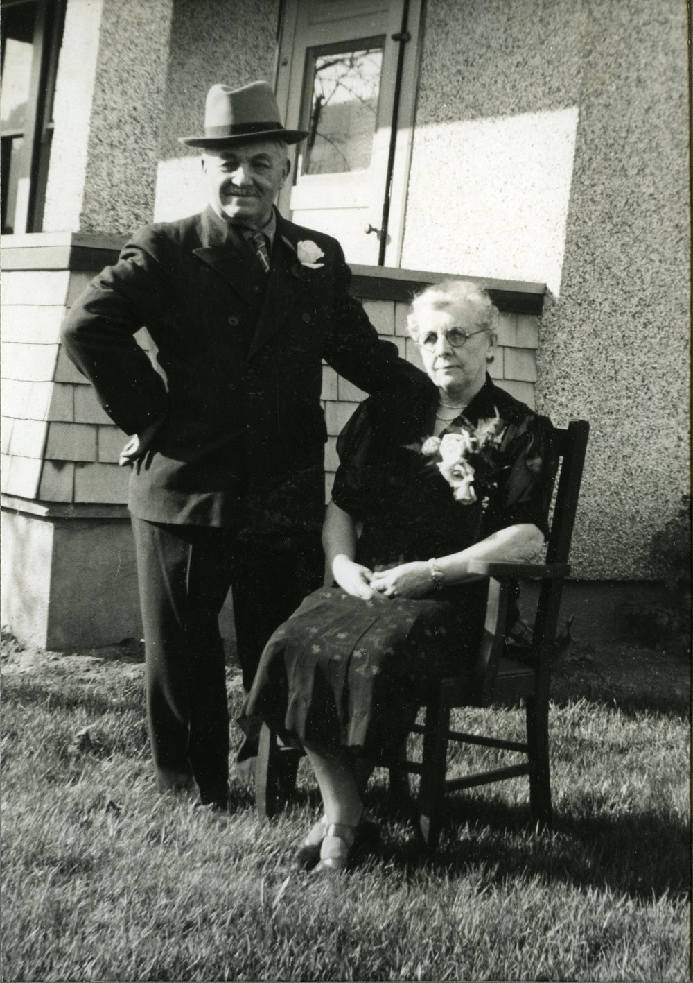 Edgar & Catherine Burridge, date unknown.