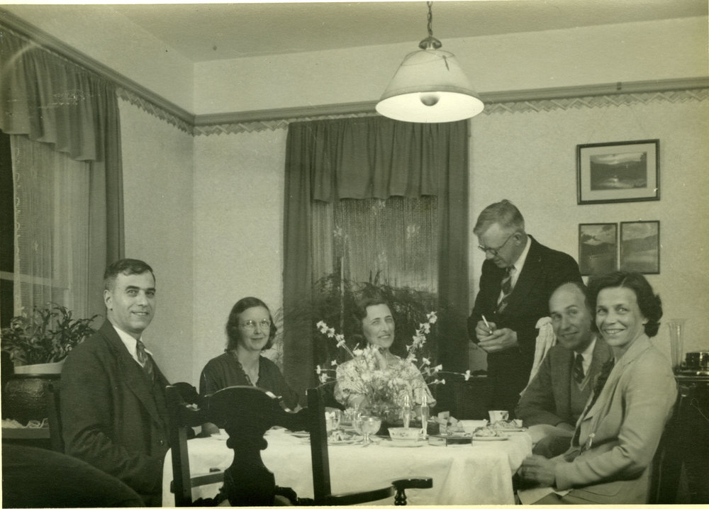 (from left) Neil Colarch, Ruby Rutherford, Estelle and Earle Dickey, and Sandy and Annie Fleming, c.1939.