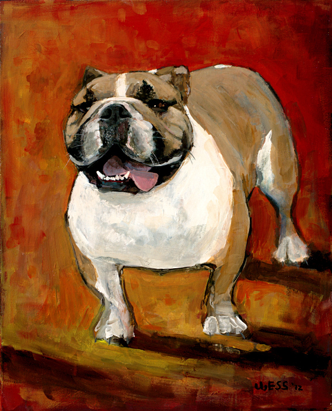 Bulldog Commission, 30x24""