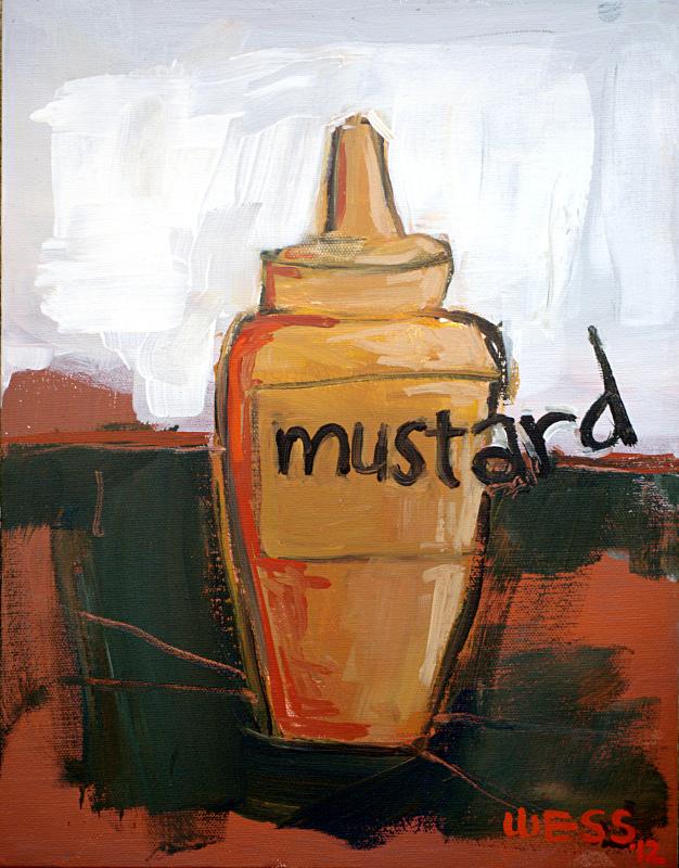 """Mustard, 14x11"""""""